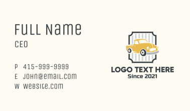 Vintage Car Truck Business Card