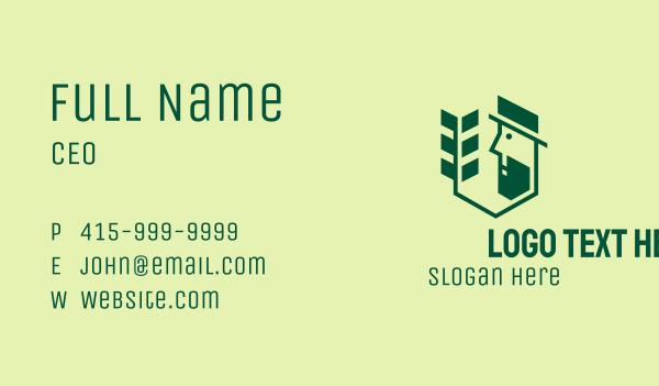 turf - Green Gardener Man Business card horizontal design