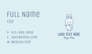 Cute Dancing Rabbit Business Card