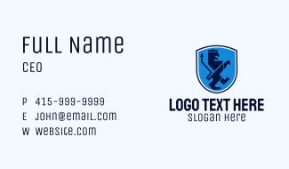 Lion Crest Shield Business Card