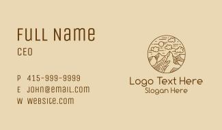 Mountain Range Line Art Business Card