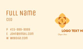 Mandala Flower Lettermark Business Card