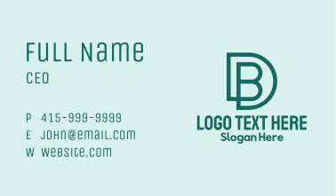D & B Monogram Business Card