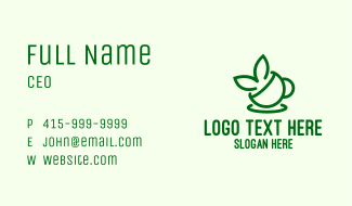 Tea Cup Leaves  Business Card