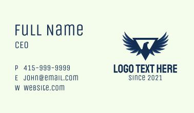 Blue Triangular Eagle Business Card