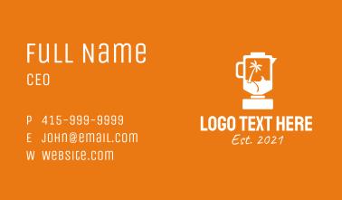 Tropical Island Blender Business Card