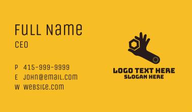 Mechanic Hand Wrench Business Card