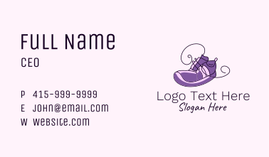 Purple Running Shoes Business Card