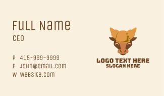 Croissant Bread Ox Business Card