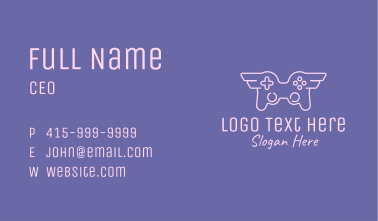 Winged Game Controller Business Card
