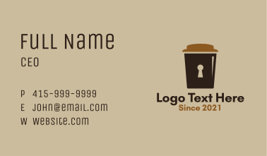 Coffee Cup Lock  Business Card