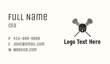 Lacrosse Skull Pirate Business Card