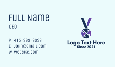 Puzzle Medal Award Business Card