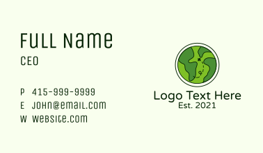 Globe World Travel Business Card