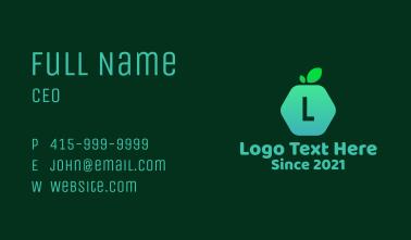 Hexagon Fruit Lettermark Business Card