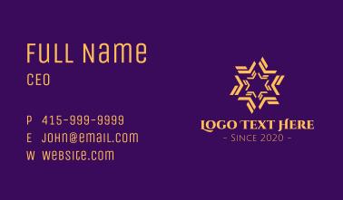 Golden Star Massage Business Card