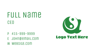 Green A Yin Yang Business Card