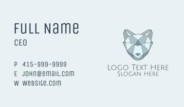 Blue Geometric Cub Business Card