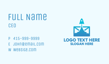 Mail Rocket Launch Business Card