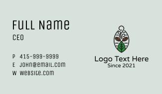 Organic Coffee Farm Business Card