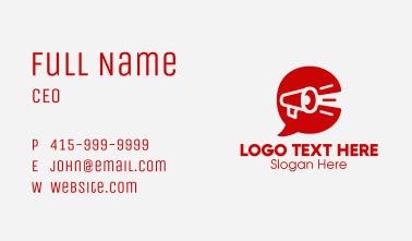 Red Megaphone Letter C  Business Card