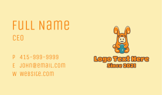Easter Bunny Baby Costume Business Card