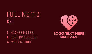Heart Cinema Reel Business Card