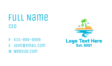 Vacation Island  Business Card