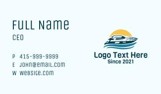 Sun Wave Speedboat Business Card