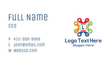Multicolor Gamer Joystick Letter Business Card