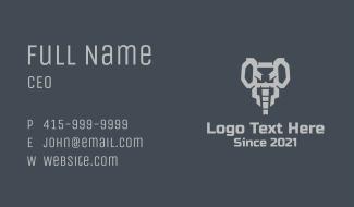 Geometric Game Elephant Business Card