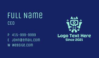 Robot Technology Monitor Business Card