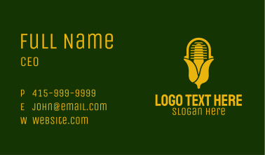 Yellow Corn Radio  Business Card