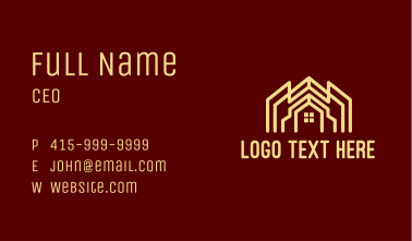 Home Structure Property  Business Card
