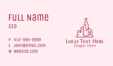 Alcohol Liquor Wine City  Business Card