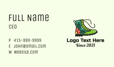 Multicolor Decorative Boots Business Card