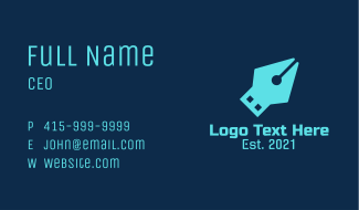 Blue Pen USB Business Card