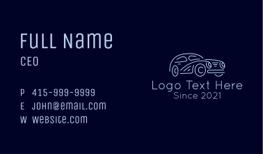 Vintage Car Automobile Business Card