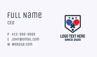 Table Tennis Tournament  Business Card