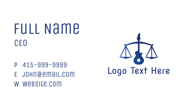 Legal Music Guitar Scales Business Card