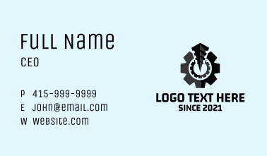 Industrial Power Drill  Business Card