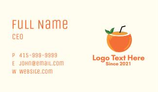 Coconut Orange Juice  Business Card