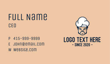 Angry Chef Face  Business Card