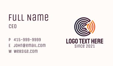 WiFi Radar Letter C Business Card