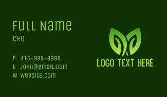 Leaf Lawn Garden  Business Card