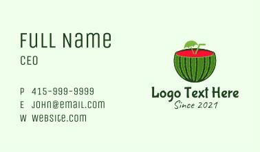 Sliced Watermelon Drink Business Card