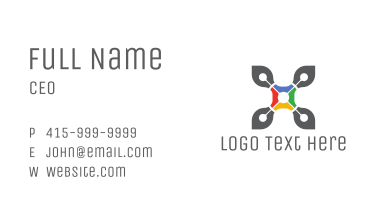 Drone Media Letter X Business Card