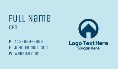 House Door Real Estate  Business Card