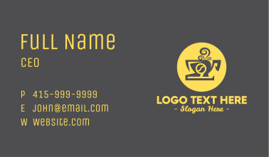Steampunk Coffee Cup Cafe Business Card