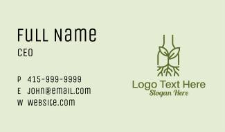 Monoline Sprout Bottle Business Card